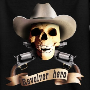 Black cowboy_skull_a Kids' Shirts - Teenage T-shirt