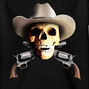 Black cowboy_skull_b Kids' Shirts - Teenage T-shirt