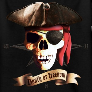 Black dead_pirate_banner Kids' Shirts - Teenage T-shirt