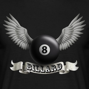 Black billard_wings_a Men's T-Shirts - Men's T-Shirt