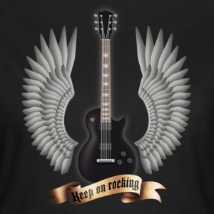 Black guitars_and_wings_black Women's T-Shirts - Women's T-Shirt