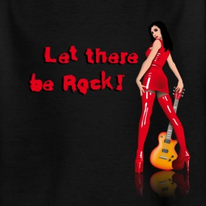Black rock_babe_a_let_there_be_rock Kids' Shirts - Teenage T-shirt