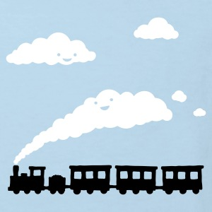Light blue railway locomotive Kids' Shirts - Kids' Organic T-shirt