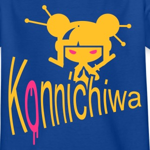 Bleu royal konnichiwa T-shirts Enfants - T-shirt Ado