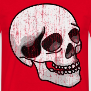 Red Washed Look Skull Men's T-Shirts - Men's T-Shirt