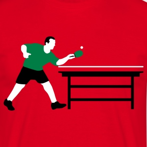 Rot table_tennis_a_3c T-Shirts - Männer T-Shirt