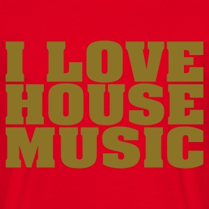 Rood i_love_house_music T-shirts - Mannen T-shirt