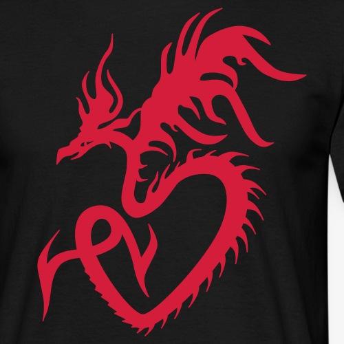 Tattoo Feuerdrache Herz Liebe / Fire Dragon Heart Love