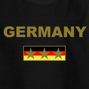 Germany Kindershirt Schwarz Rot Gelb - Teenager T-Shirt