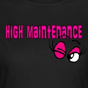 Black high maintenance wink Women's T-Shirts - Women's T-Shirt