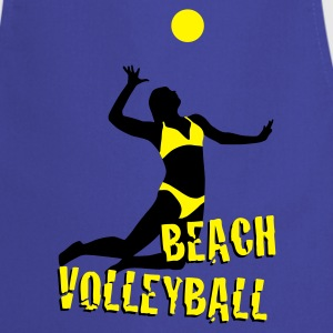 Royal blue beachvolleyball_woman_c_2c  Aprons - Cooking Apron