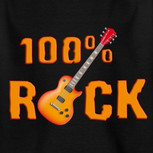 100_rock_guitars_red_ok Camisetas - Camiseta adolescente