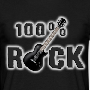 100_rock_guitars_black Camisetas - Camiseta hombre