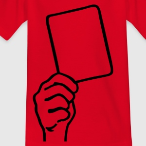 Red Soccer - Red card Kids' Shirts - Teenage T-shirt
