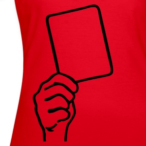 Rood voetbal, rode kaart T-shirts - Vrouwen T-shirt