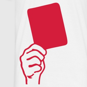 White Soccer - red card Men's T-Shirts - Men's T-Shirt