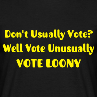 Design ~ Don't Usually Vote?  Men's T-Shirt