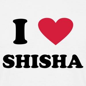 White i love shisha Men's T-Shirts - Men's T-Shirt