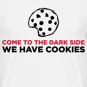 Vit The Dark Side - We Have Cookies (2c) T-shirts - T-shirt herr