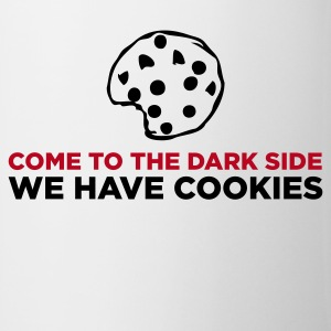 Hvid The Dark Side - We Have Cookies (2c) Krus - Kop/krus