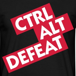 Black Ctrl Alt Defeat (2c) Men's T-Shirts - Men's T-Shirt