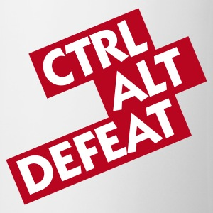 White Ctrl Alt Defeat (2c) Mugs  - Mug