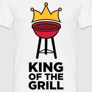 Blanco King of the Grill 1 (3c) Camisetas - Camiseta hombre