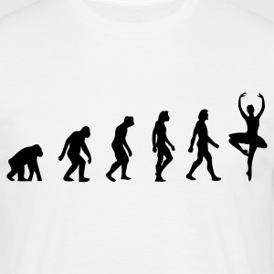 Wit Ballerina Evolution (1c) T-shirts - Mannen T-shirt