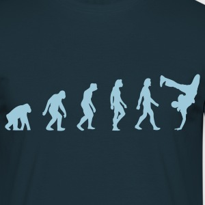 Navy Breakdancer Evolution (1c) T-Shirts - Männer T-Shirt
