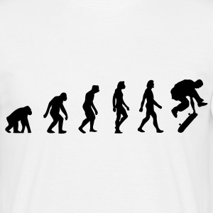 Wit Skateboarder Evolution 2 (1c) T-shirts - Mannen T-shirt