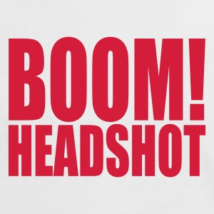 White/red BOOM headshot Women's T-Shirts - Women's Ringer T-Shirt
