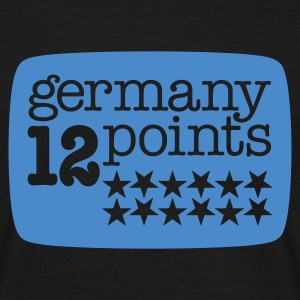 Schwarz Germany 12 points | 1c T-Shirts - Männer T-Shirt