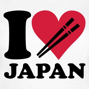 Hvid Japan - I love Japan T-shirts - Dame-T-shirt