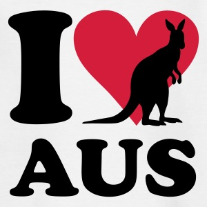 Weiß Australien - I love Australia Kinder T-Shirts - Teenager T-Shirt