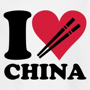 Weiß China - I love China Kinder T-Shirts - Teenager T-Shirt