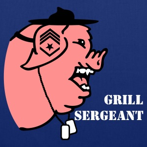 Royal blue grill sergeant porky (3c) Bags  - Tote Bag