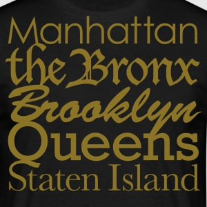 Zwart New York Boroughs T-shirts - Mannen T-shirt