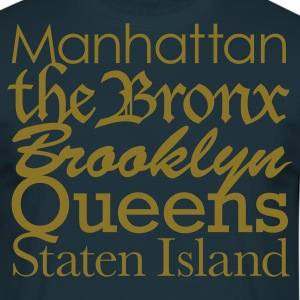 Navy New York boroughs T-Shirts - Männer T-Shirt