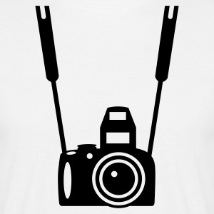 Wit Foto Camera T-shirts - Mannen T-shirt