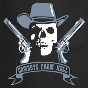 Black cowboys_from_hell_2c  Aprons - Cooking Apron