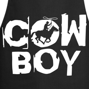 Black cowboy_c_1c  Aprons - Cooking Apron