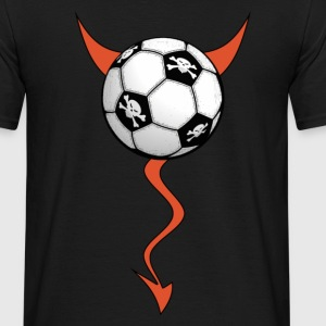Noir football devil design T-shirts - T-shirt Homme