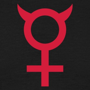 Black devil_woman_1c Men's T-Shirts - Men's T-Shirt