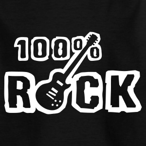 Black 100_rock_b_1c Kids' Shirts - Teenage T-shirt