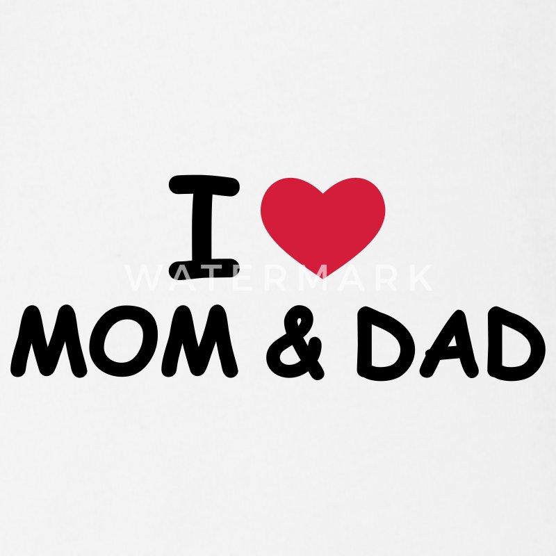 Weiß I Love Mom and Dad Baby Body - Baby Bio-Kurzarm-Body