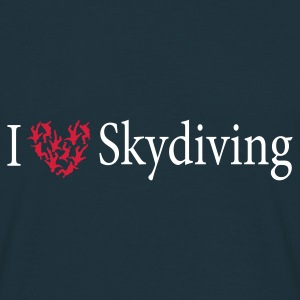 Navy freefly heart T-Shirts - Männer T-Shirt