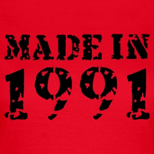 Rot Made in 1991 T-Shirts - Frauen T-Shirt