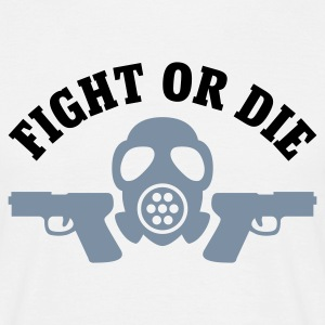 Weiß Paintball - Fight or die T-Shirts - Männer T-Shirt