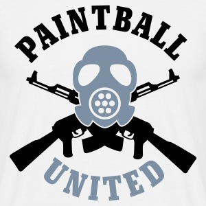 Weiß Paintball United © T-Shirts - Maglietta da uomo