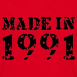 Rot Made in 1991 T-Shirts - Männer T-Shirt